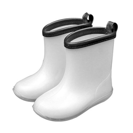 Kids Rain Boots White Color Boys Girls