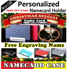 ★( SG Seller )★Free Engraving Name Namecard holder Personalized Business Name Card holder