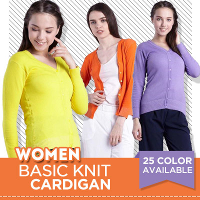 [ READY BIG SIZE ] 25 COLOR AVAILABLE BASIC KNIT CARDIGAN Deals for only Rp40.000 instead of Rp40.000