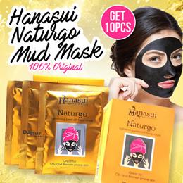 Hanasui - Naturgo BPOM / Masker Lumpur / 100% Original - 10 Sachet