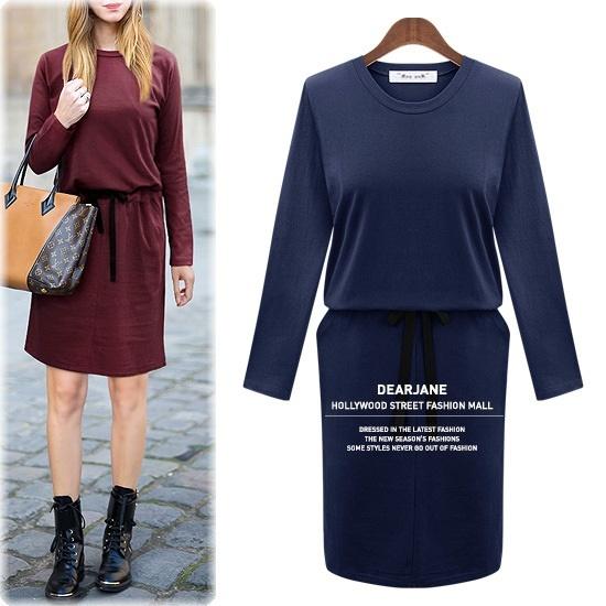ディアジェーンムジスボトリングワンピースM3639 綿ワンピース/ 韓国ファッション