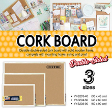 Cork Board with Frame 30x45 45x60 60x90
