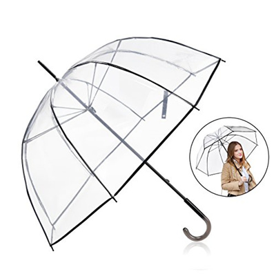 88c80d2c7c42 Rainbrace Clear Umbrella Big Arc 52 Transparent Clear Bubble Umbrella for  Adult