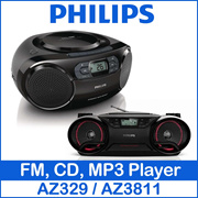 Philips FM AM CD Radio MP3 Player Boombox Soundbar