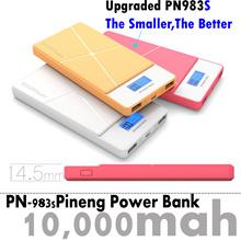 【Mr.Snoopy】100% Original Pineng Super Slim Power Bank pn983 LCD Screen 10000mah Polymer Littium