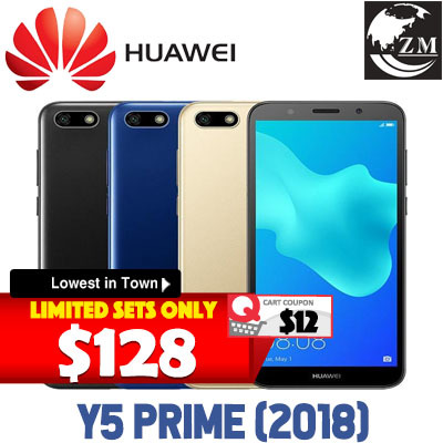 [US$115 57]*Global Rom*Huawei Y5 PRIME 2018/EXPORT SET/Selfie Toning  Flash/Android 8 1/One month warranty