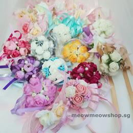 WRIST CORSAGE / boutonniere/ bridesmaid/ wedding/ ROM/ gift