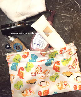 Waterproof Makeup Pouch/ Cosmetic Pouch/ Wristlet/ Lunch Bag/ Travel Organizer/ Wallet/ Wet Bag