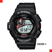 *APPLY 25% OFF COUPON* G-SHOCK MUDMAN BLACK RESIN STRAP WATCH G9300-1D. Free Shipping and Warranty!