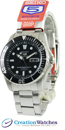 [CreationWatches] Seiko Automatic Divers 23 Jewels 100m Made in Japan SNZF17J1 Men s Watch