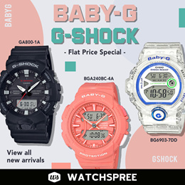 *100% Authentic* G-Shock and Baby-G Watches Flat Price Special. Best Selling Models. 1 Year Warranty