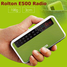 ★ NEW !! ★ Rolton E500 Radio ★ Multi-function Portable FM Torch MP3 TF/USB