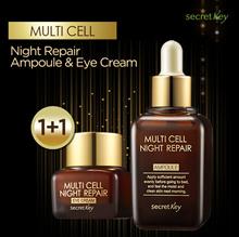 【Secret Key HQ Direct Operation】1+1 Multi cell night repair Ampoule 50ml/Eye Cream15g/Serum
