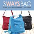 JUAL RUGI!!Branded 3Ways Bag♡SlingBag|ShoulderBag|Backpack♡Premium Quality*Design Style Backpack!
