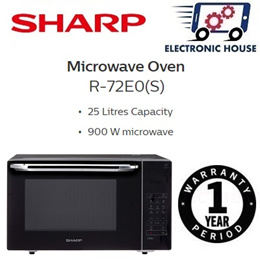 ★ Sharp R-72E0(S) 25L Microwave Oven with Grill ★ (1 Year Singapore Warranty)