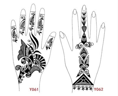 Tattoo Templates Hands Feet Henna Stencils For Airbrushing Professional Mehndi New Body Paint