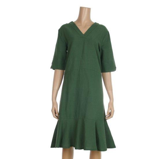 レコブ女性衣類VネクそのルートのリンネンワンピースLU3178OP529X 面ワンピース/ 韓国ファッション