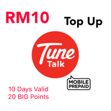 RM10 Tune Talk / Tone Excel / Tone Plus Instant Top Up