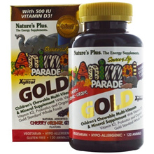 [CARTON DEAL] 5x QTY, Natures Plus Source of Life Animal  Parade Gold Childrens Chewable Multi-V