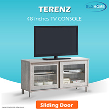 【TERENZ】48inches TV Console/TV Stand/TV Cabinet/ TV Furniture/2 Glass Doors Television Cabinet