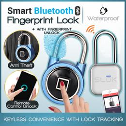 ★SG LOCAL★Smart Keyless Bluetooth Fingerprint Lock Recognition Phone Unlock APP Management USB