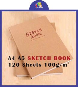 POTENTATE A4 A5 SKETCH BOOK/SKETCH PAPER 120 SHEETS 100G