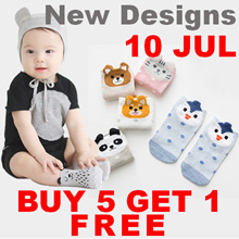 10 July NEW / RESTOCKED !! Buy 5 Free 1 Promotion !! - Cute Anti-Slip Socks for Baby/Kid