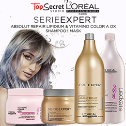 LOREAL PROFESSIONAL SERIE EXPERT SERIES l FOR DAMAGED AND COLOURED HAIR