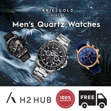 [ARIES GOLD] Best Gift for Him l Mens Dress Watches l FREE Lifetime Battery l FREE Shipping.