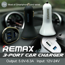 [Funky Creations ] REMAX Car Charger 6.4A Multiple USB Port Cigarette Lighter for Samsung iPhone