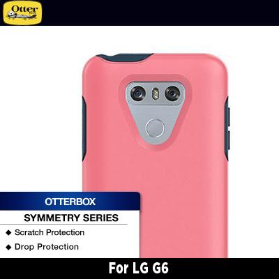 newest f99a7 1cb18 OtterBox LG G6 Symmetry Series Saltwater Taffy (Pink/Blue)