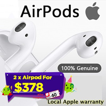 2x Apple AirPods Wireless headset ★ Local APPLE Warranty★ Buddy Deal / Couple Deal / Apply 40 Coupon