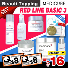 SAVE $16+FREE GIFTS★[Medicube] Zero Pore Line Set(Pad+Serum+Cream) / Red Line Set(Toner+Serum+Cream)