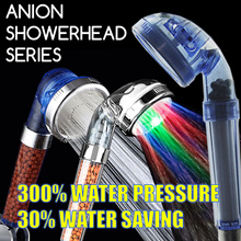 [Mamemon $5.50] Purifying Filter Anion SPA Showerhead LED Water Saving Conservation 300% Pressure!
