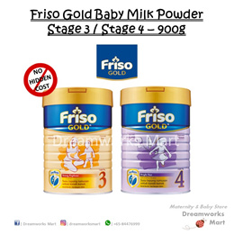 Friso Gold Baby Milk Powder - Stage 3 | Stage 4 - 900g [Buy 2 n above + FREE Gift]