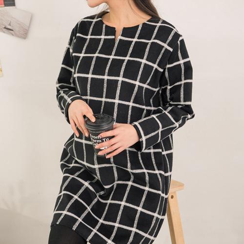 [SOIM] 働いているママには「ワーキングママコーデ」 / ♥体型カバーになる♥ / 冬ワンピース / チェックワンピース / 韓国ファッション妊婦服 / 一般女性の着用可能!