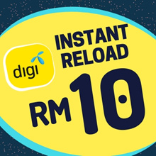 Digi instant Top UP RM10[Each mobile number can only top up once per day after 24 Hours]