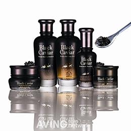 [Holika Holika] Black Caviar Anti-Wrinkle 3set [Skin+Emulsion+Cream] Korean Cosmetics/ TTBEAUTY