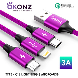 Fast Charge★Lightning/Type-C/Micro-Usb★Samsung/iPhone/Huawei★Cable Premium Brand★