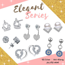 LITTLE MOMO 💎 925 SILVER EARRINGS ANTI-ALLERGY 💎 ELEGANT DESIGNS