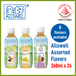 ALLSWELL ASSORTED FLAVOURS - 360ML x 24 BOTTLES