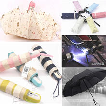 New UV Automatic Umbrella mini sun Reverse car holder Super Large  Summer Light small pockets paraso