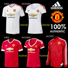 100% AUTHENTIC ADIDAS MANCHESTER UNITED 2015-2016 RED SOCCER PLAYER JERSEY AC1414 MEN AC1425 WOMEN AC1927 JACKET