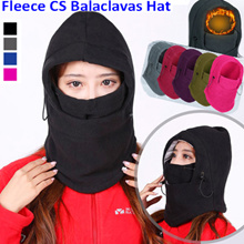 Thicker section CS Game Accessories Thermal Neck Warmer Fleece Balaclavas CS Hat Headgear Winter Skiing Ear Windproof Warm Face Mask Ski Gorros Motorcycle Bicycle Scarf