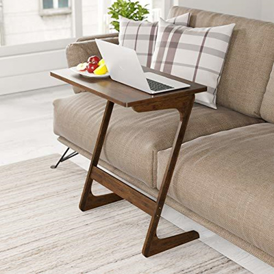 Homfa Bamboo Tv Tray Sofa Couch Coffee End Table Z Shaped Portable Laptop Desk Bed Side Table Sn