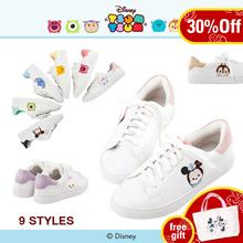 Gracegift-Disney Tsum Tsum TopQ Embroidery Sneakers/Women/Ladies/Girls Shoes/Taiwan Fashion