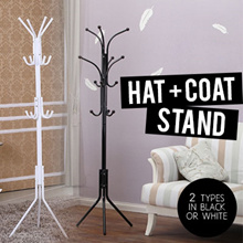 ★ Hat and Coat Stand ★ SATISFACTION GUARANTEED - Hang Clothes Jacket Towels Accessories