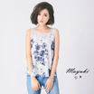 MAYUKI - Printed Tank Top with Crochet Yoke-6017059-Winter