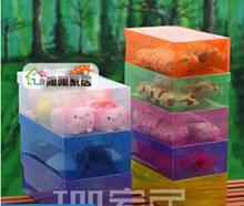 Transparent drawer storage shoebox thick plastic shoe storage box creative finishing debris box storage box