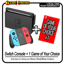 SEPETEMBER Best Deal ! Nintendo Switch Portable Console + 1 Game of your choice Bundle. Local Warranty